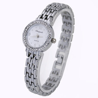 Luxury White Face Fashion Ladies Girls Women's Bracelet Quartz Waterproof Crystal Style Gifts Wrist Watches, Free Shipping