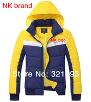 FREE SHIPPING, NK brand women winter down jacket coat women sports leisure hooded fashion coat cotton-padded jacket