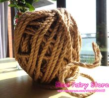 Wholesale NEW Natural Hemp Rope 6mm x40m Jute pet tie , Jute rope, Hemp rope, DIY jute cord Fre