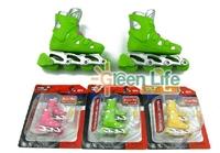 ilandDollhouse Miniature Finger skateboard Roller Inline skates 1 pair for dolls