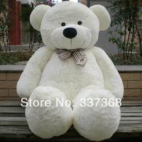 "Free shipiping 6 FEET BIG TEDDY BEAR STUFFED 4 Colors GIANT JUMBO 72"" size:180cm Dark Brown Light Brown White Pink"
