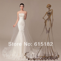 Free shipping 2014 fashion women lace dress Sweet Lovely High-quality Sexy princess dress flower bride wedding dress