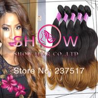 Queen Peruvian virgin hair weaves ,3/4pcs lot body wave ombre hair extensions,grade 6A Unprocessed virgin human hair bundles