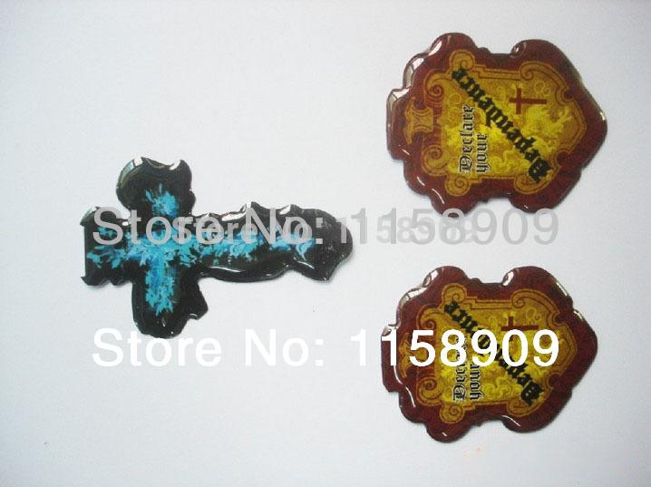 Custom emboss adhesive sticker printing 3d stickers crystal epoxy sticker for logo label Epoxy 3D sticker(China (Mainland))