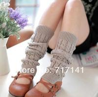 Retail 2014 Three-colors Clearance Adult Women Ladies Long Wool Leg Warmers Knitting Beautiful Legging Socks