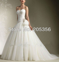 2014 NEW DESIGN in stock Free Shipping hot sale Beautiful pleat corset with bow zipper back ball gown Women Wedding Dresses NW26