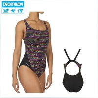 Decathlon Women's Swimming Striped Halter Swimsuit Sexy Anti-chlorine NABAIJI  One Pieces  On sale 325