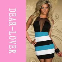 Mesmerizing Blue White Tank Mini Dress cute dress LC2934 body con dress