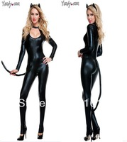 2014 fashion halloween costume klepto cat dress bar club suit teddy leotard uniform game stage party cosplay clothing size M
