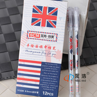 The appendtiff stationery fashion flag unisex pen 0.5 full needle nib supplies gift