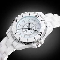 2014 New Luxury Brand Beautiful Real Ceramic Bracelet women waterproof Wristwatches Ladies Fashion Quartz Dress Watches