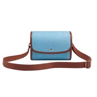 SHETU Canvas Protective Camera Case Cover Pouch - Light Blue