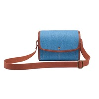 SHETU Canvas Protective Camera Case Cover Pouch - Denim Blue