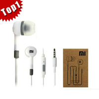 10pcs/lot New for XIAOMI Earphone Headphone with Remote Mic For XIAOMI MI2 MI2S MI2A Mi1S M1 Phones