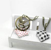 "Free Shipping 10 strands Vintage Big Retro Punk Style Hunger Games Ridicule birdsPendants Necklace 18"" Wholesales"