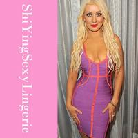 Red Carpet V-neck Backless Curvy Bandage Dress LC28067 dear lover