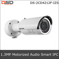 Hikvision The latest Smart Code 720P Motorize IR-Bullet Smart IP Camera DS-2CD4212F-IZS,Support Face detection & Audio detection