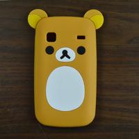 Hot Cute Cartoon Rilakkuma Lazy Bear Soft Silicone Back Case Skin Cover For Samsung Galaxy Gio S5660 i569
