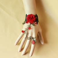 Free Shipping New Design Sexy  Hand Chain Bracelet With Finger Ring BL020