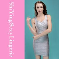 New Fashion Silver Foil Print Bandage Dress Celebrity Style LC28072 free ship new arrival new fashion summer women dress