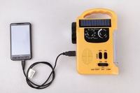 Solar radio, hand crank flashlight, USB mobile emergency charger, outdoor camping equipment, household emergency light, alarm.