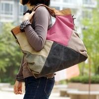 2014 Fashion Canvas Shoulder Bag For Women Bolsos Mujer Bolsa Femininas Sac A Main Hand Bag Leather Tote Big Female Handbag S361