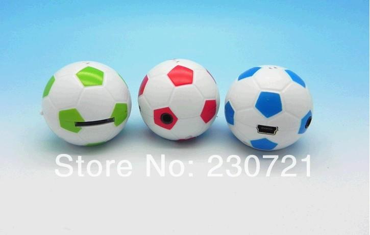 Free shipping cartoon Mini MP3 player with micro sd card slot football shape Hot selling 100pcs(China (Mainland))