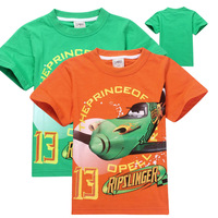 2014 New Arrival Fashion Children Summer Wear Cartoon Clothing Short Sleeve Cotton Tops T-shirt for Boys