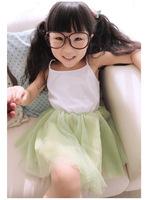 2014 Girl Chiffon Gauze Dress Princess Vest Cute Dress Kids Tutu Dresses Girl High Quality 10PCS/LOT Fit 2-6Yrs Free Shipping