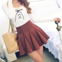 2014 spring bust skirt pleated skirt female puff skirt sheds high waist basic autumn and winter short skirt bag skirt