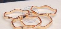 rings finger Fashion popular Jewelry for women Girl's grace golden wave design CN post