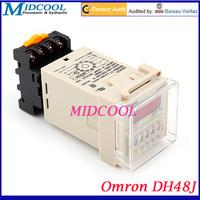 "Omron DH48J Electronic 1.2"" Red Backlit Display Digital Preset Counter Relay 220V/24V"