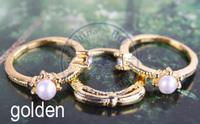 rings finger Fashion popular Jewelry for women Girl's 3in one 3pcs/set design CN post