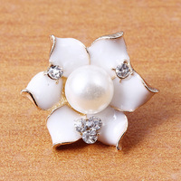 20pc/lot Flower Pearl Crystal Decorate Handle Button Garment Sewing Buttons 16.5mm in diameter J5118