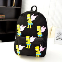 Simpson HARAJUKU joyrich girl BOY WOMEN casual backpack school bag backpacks BLACK BLUE PINK COLOR FREE SHIPPING WB37