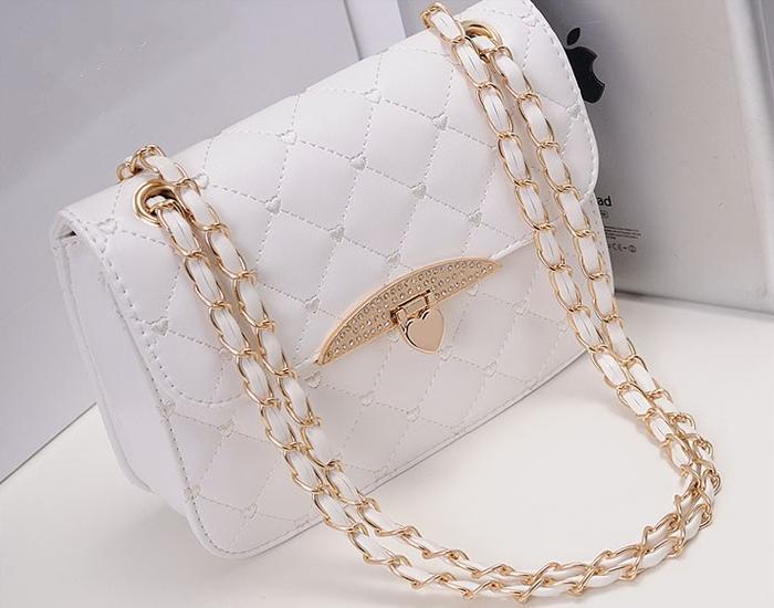 Free Shipping Hot sell evening bag Peach Heart bag women leather handbags Chain Shoulder Bag women messenger bag(China (Mainland))