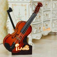 Wholesale iland 1/12 Dollhouse Miniature Music Instrument Wood Violin 50PCS HE007
