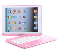 Free Shipping Wireless Bluetooth 3.0 Keyboard Case for iPad Air 5 360 Degree Rotatable Protective Shell for iPad 5
