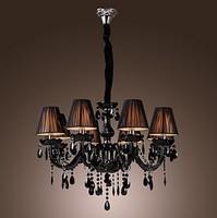 Black Crystal Chandelier with 8 Lights