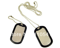 New Arrival Free Shipping Mix Colors 200Pcs/ Lot Aluminum Alloy 50*29mm Military Army Tags With Silencer Ball Chain Pet Tags