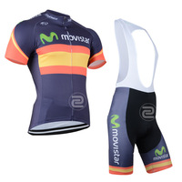 2014 outdoor sportwear Cycling  jersey ciclismo  Men's movistar Wear bike apparel clothing wear maillot t-shirts +bib shorts set