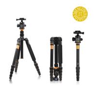 Free shipping ! Q666 slr camera stand photographic Carbon fiber tripod portable digital tripod , with Ball head & bag led tripod