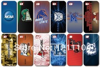 Free shipping!New unique design ! For bulk NCAA  hard white case cover for iphone 4 4s 4G 10 PCS in stock