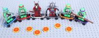 FreeShipping 6PCS/lot  Teenage Mutant Ninja Turtles action figures PVC Building bolck dolls of  classic toys for kids gift