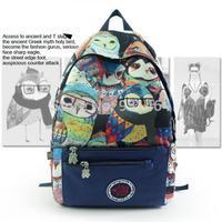 2014 new brand trendy harajuku unique women backpack girl Owl printing 3D preppy style student school bag travel Mochila Bolsas