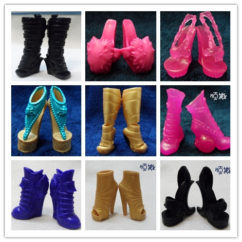 New original Monster High shoes/Ever After High shoes,9 styles beautiful shoes for Monster High dolls 9 pairs/lot,free shipping(China (Mainland))
