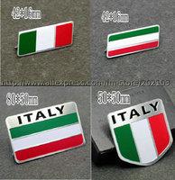 free shipping 1pcs ITALY emblem stick Italy Italian flag logo decorative metal nameplate nameplate car stick