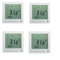 4 X Floureon Programmable Floor Thermostat White Backlight LCD Room Heating Temperature Controller Room Thermostat Free Shipping