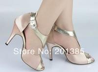 Wholesale Women Flesh Satin Ballroom LATIN Dance Shoes SALSA  Dance Shoes Size 4,5,5.5,6,6.5,7,7.5,8,8.5,9,9.5,10