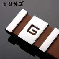 Business Leisure High-grade Men And Women Unisex Belts Smooth Ceinture Buckle Brand Belt L032